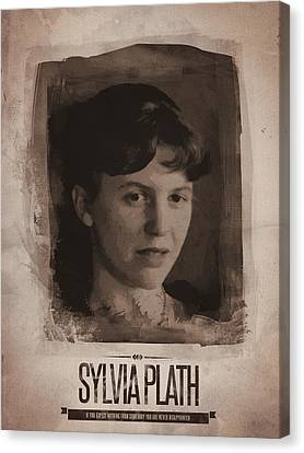 Sylvia Plath Canvas Print by Afterdarkness
