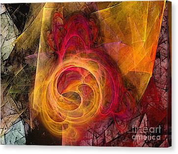 Symbiosis Abstract Art Canvas Print by Karin Kuhlmann