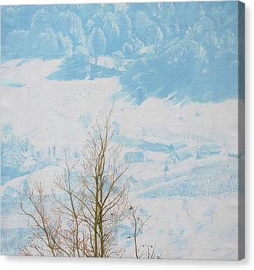 Symphony In The Snow Canvas Print by Veronika Logar