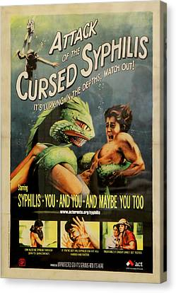 Syphilis Poster Canvas Print by Andrew Fare