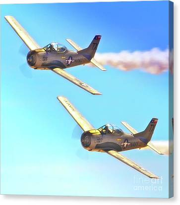 T-38s Fly Tandem Canvas Print by Gus McCrea