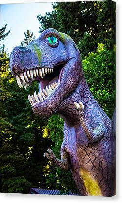 T-rex Oregon Woods Canvas Print by Garry Gay