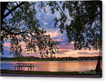Table For Four With A View Canvas Print by James BO  Insogna