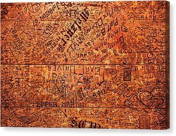 Table Graffiti Canvas Print by Todd Klassy