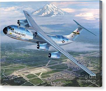 Tacoma Starlifter C-141 Canvas Print by Stu Shepherd