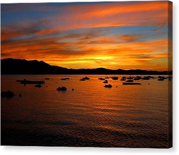 Tahoe Sunset Canvas Print by Connor Beekman