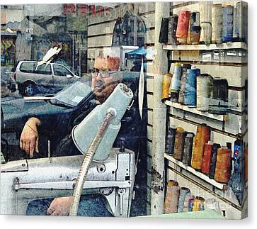 Tailor Shop Canvas Print by Sarah Loft