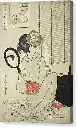 Takashima Ohisa Canvas Print by Kitagawa Utamaro