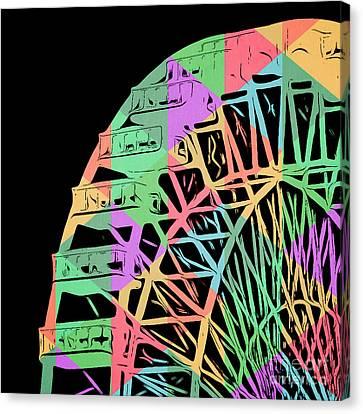 Take A Ride On The Ferris Wheel Canvas Print by Edward Fielding