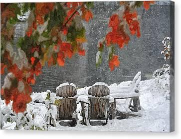 Take A Seat Canvas Print by Andrea Kollo