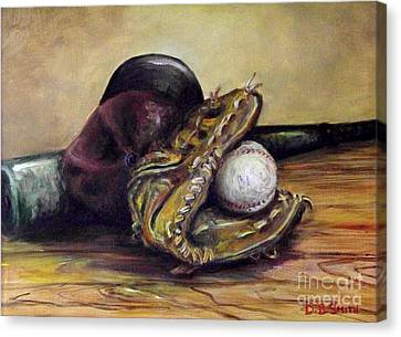 Take Me Out To The Ball Game Canvas Print by Deborah Smith