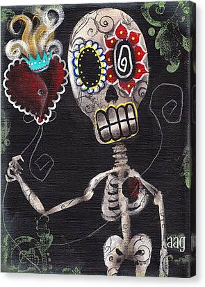 Take My Heart Canvas Print by  Abril Andrade Griffith