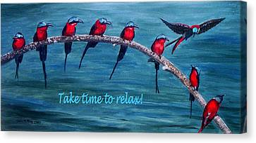 Take Time To Relax Canvas Print by Julie Brugh Riffey