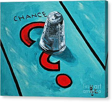 Taking A Chance Canvas Print by Herschel Fall
