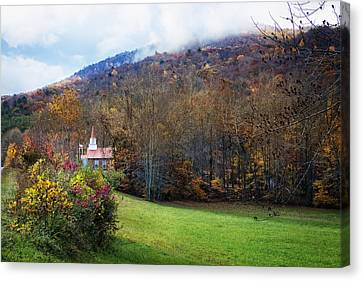 Taking The Scenic Route Canvas Print by Debra and Dave Vanderlaan