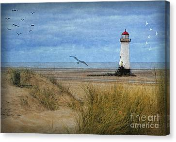 Talacre Lighthouse - Wales Canvas Print by Lianne Schneider