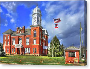 Taliaferro County Court House Canvas Print by Reid Callaway