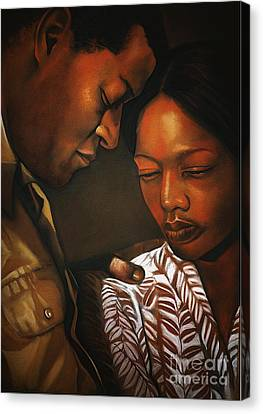 Talk To Me Baby Canvas Print by Curtis James