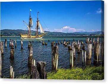 Tall Ship Lady Washington Canvas Print by Robert Bynum