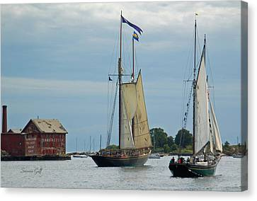 Tall Ships Sailing II Canvas Print by Suzanne Gaff