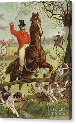 Tally Ho Canvas Print by English School