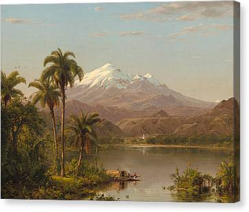 Tamaca Palms Canvas Print by Frederic Edwin Church