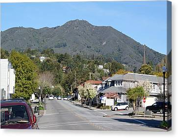 Tamalpais From Mill Valley Canvas Print by Ben Upham