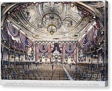 Tammany Hall, Nyc Canvas Print by Granger