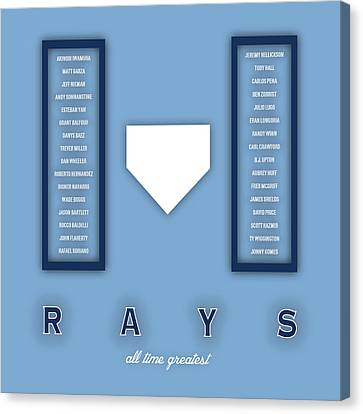 Tampa Bay Rays Greatest Canvas Print by Damon Gray