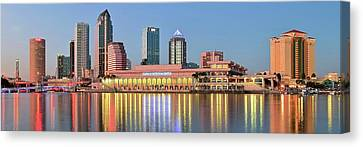 Tampa Panoramic View Canvas Print by Frozen in Time Fine Art Photography