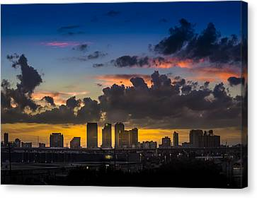 Tampa Sunset Canvas Print by Marvin Spates
