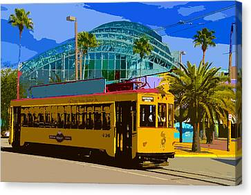 Tampa Trolley Canvas Print by David Lee Thompson