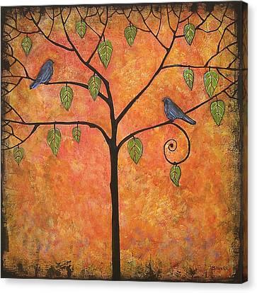 Tangerine Sky Canvas Print by Blenda Studio