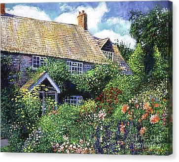Tangled English Garden Canvas Print by David Lloyd Glover