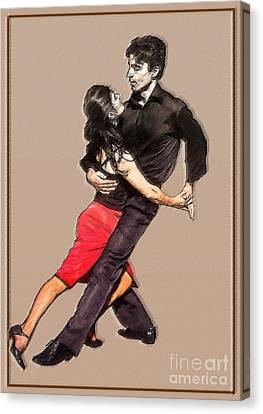 Tango Canvas Print by Linda  Parker