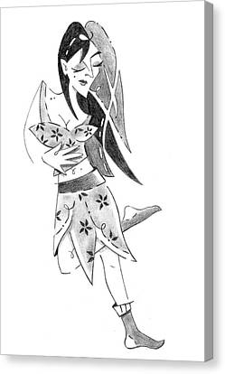 Tango Nuevo - Woman Step Colgada Canvas Print by Arte Venezia