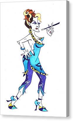 Tango Woman - Fashion Illustration Canvas Print by Arte Venezia