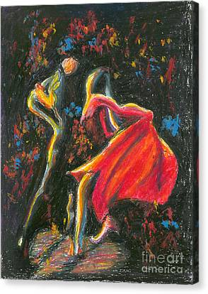 Tango. 27 March, 2015 Canvas Print by Tatiana Chernyavskaya