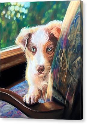 Tanner Canvas Print by Leslie Arnould