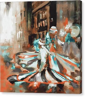 Tanoura Dance 449 IIi Canvas Print by Mawra Tahreem