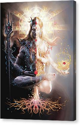 Tantric Marriage Canvas Print by George Atherton