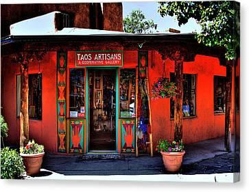 Taos Artisans Gallery Canvas Print by David Patterson