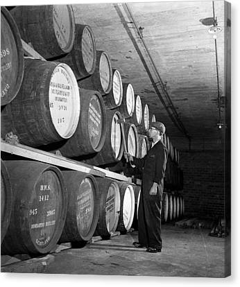 Tapping Casks Canvas Print by George Konig