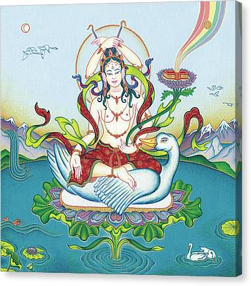 Tara Protecting Against Poisons And Naga-related Diseases Canvas Print by Carmen Mensink