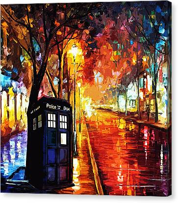 Tardis Art Painting Canvas Print by Koko Priyanto