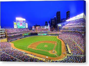 Target Field At Night Canvas Print by Shawn Everhart