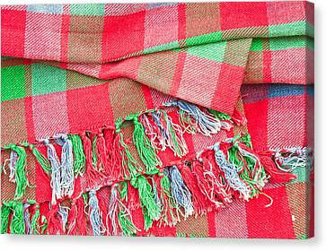 Tartan Blanket Canvas Print by Tom Gowanlock