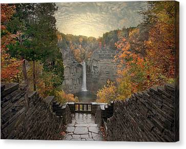 Taughannock Lights Canvas Print by Jessica Jenney
