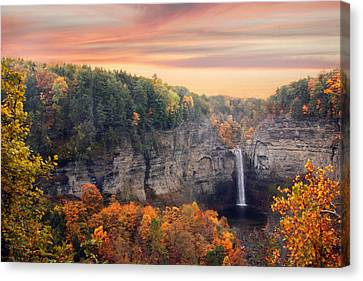 Taughannock Sunset Canvas Print by Jessica Jenney