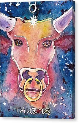 Taurus Canvas Print by Ruth Kamenev